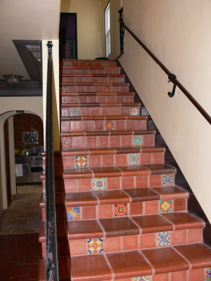 Stairs with mexican tile