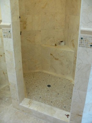 Honey marble Shower