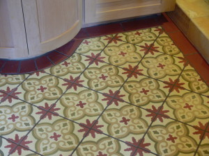 Concrete Painted Tile