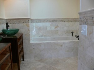 Honey Marble Bathroom