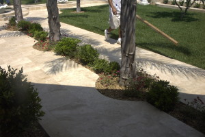 Travertine garden